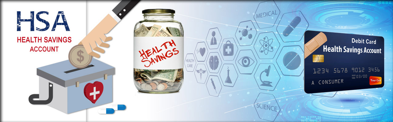 montage of photos for health savings accounts